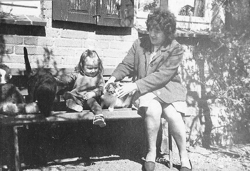 Oma, Andrea und die Katzen