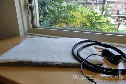 Heizkissen / Heizmatte für die Katze mit Flauschbezug