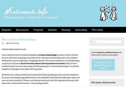 Schatznasen unter den 11 besten Katzenblogs von Katzennetz.info