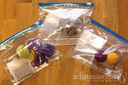 Katzenspielzeug mit Geruch, Duftspielzeug selbsgemacht DIY