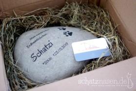 Schatzis Gedenkstein ist angekommen